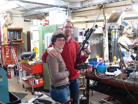 Andreas Korth and Judith Mann;  Special Effects People from Germany with our gun.