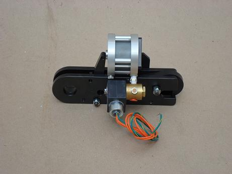 Trip, solenoid and pneumatic ram