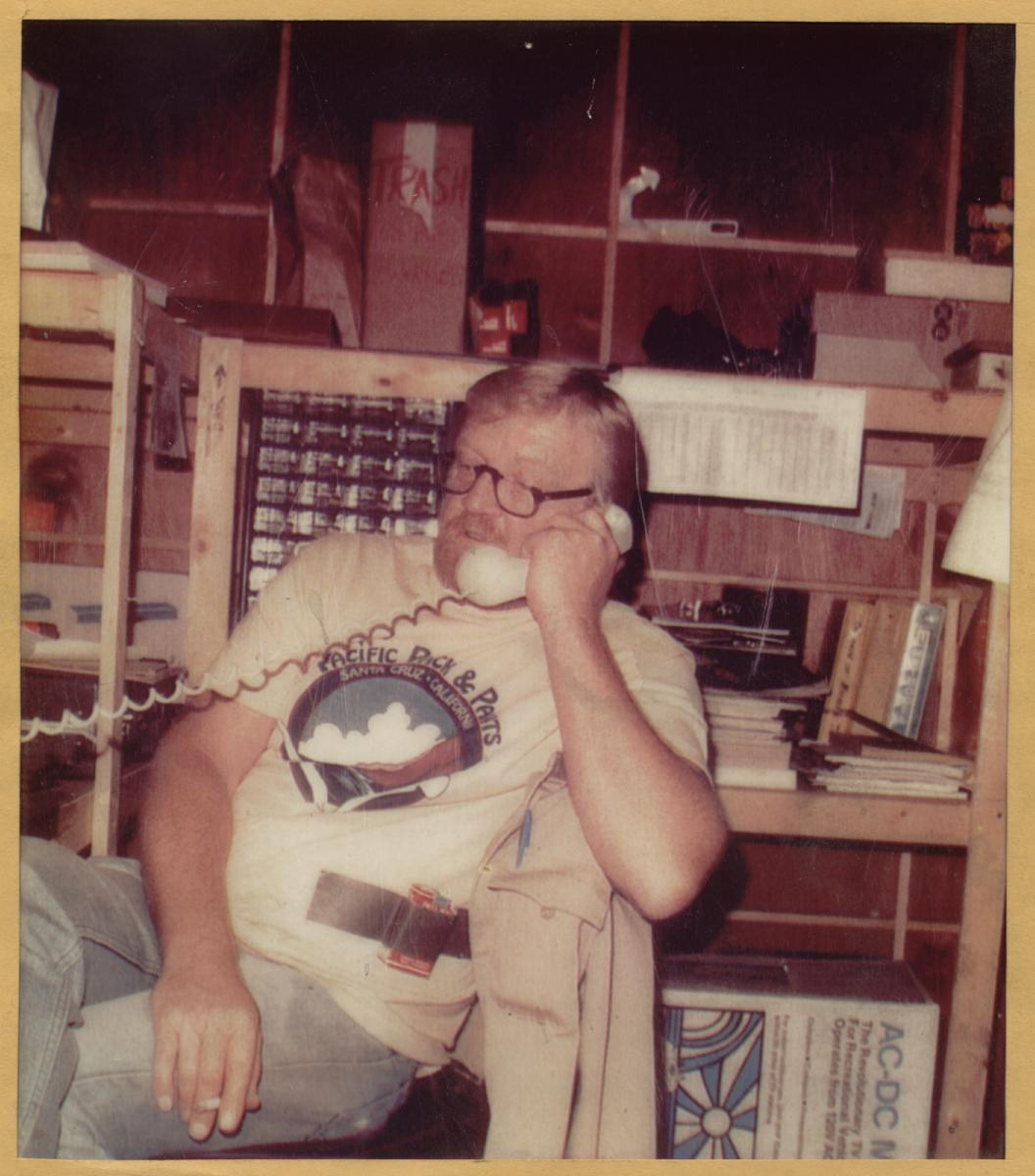 Here is a picture of the famous Chuck Gaspar back in 1981 when he was doing PeeWees Big Adventure.  His father Geza Gaspar was an Effects man, and his sons Mike are both Effects men.  Note the Pall Malls taped to his t-shirt.