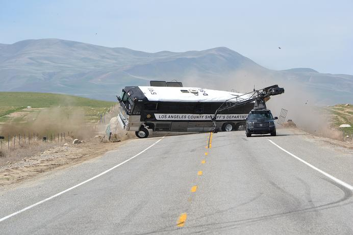 Fast 5, March 2011.  Last minute: Hey can you do a bus rollover for the opening sequence?