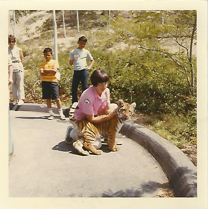 Here is a picture of Matts mom, Frances Sweeney.  She was an Animal Keepe  at the Los Angeles Zoo for 20 years