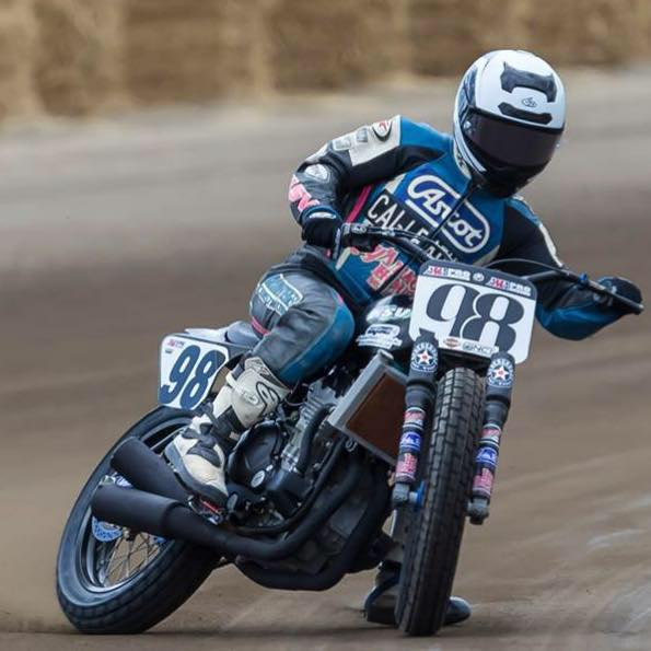 We sponsor Kayle Kolkman for AMA Dirt Track Racing. As of May 8, 2018 he is tied for 11th in national standings. Not bad for someone without a shred of factory support.