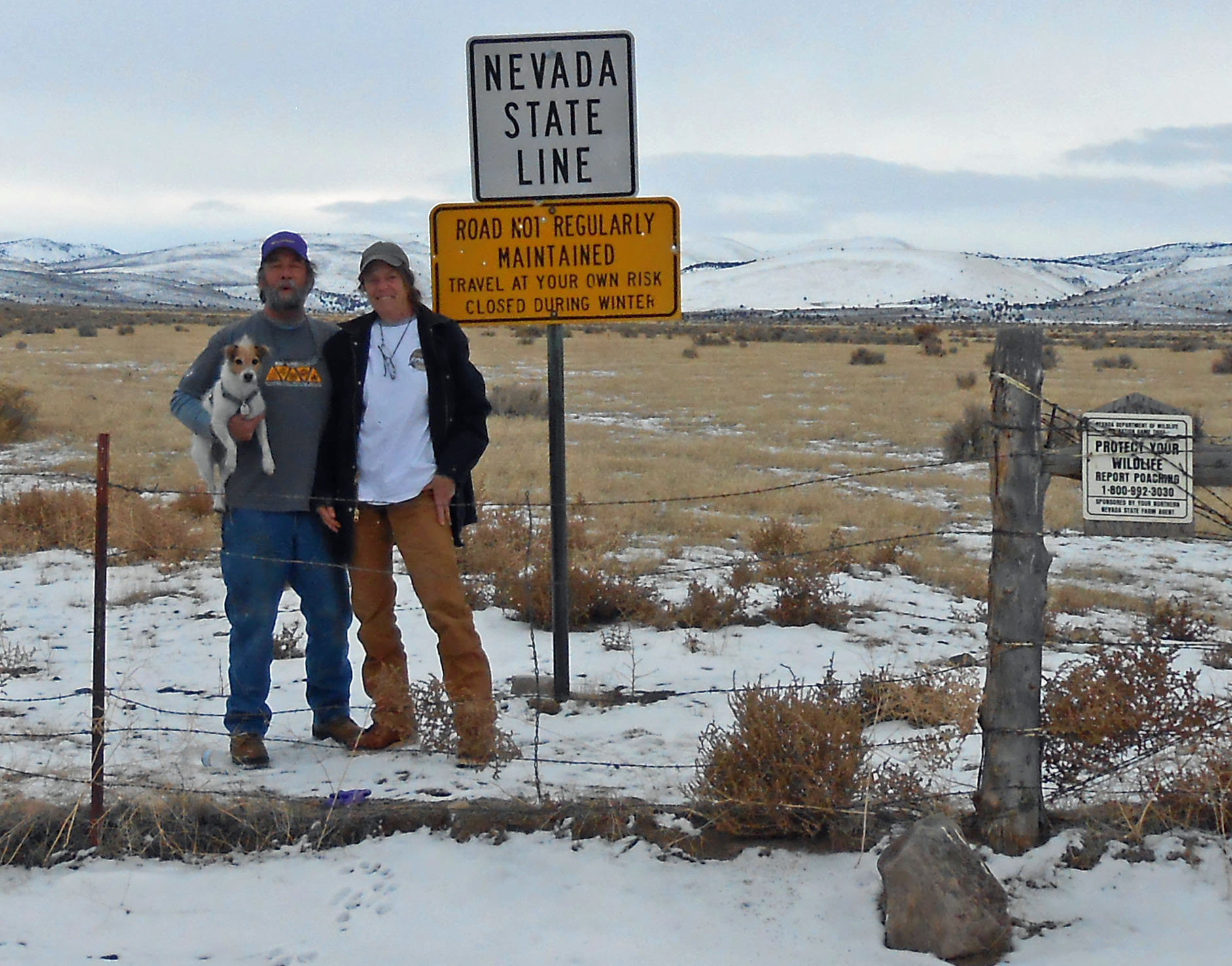Coming into Northwest Nevada from Oregon.  Xmas 2012